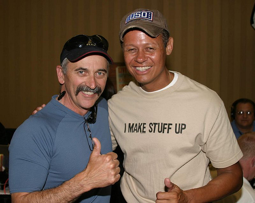Neal McCoy with previous Range Call guest Aaron Tippin